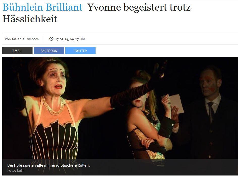Kritik: Yvonne die Burgunderprinzessin, Kölnische Rundschau